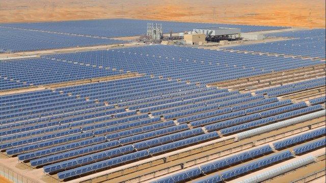 Granja solar en Masdar City