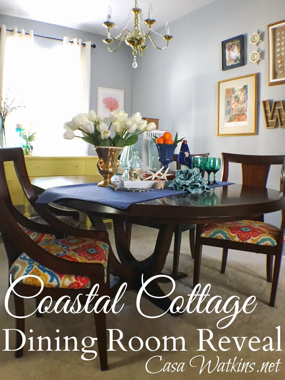 colorful coastal cottage dining room makeover reveal casa colorful coastal cottage dining room reveal at www casawatkins net