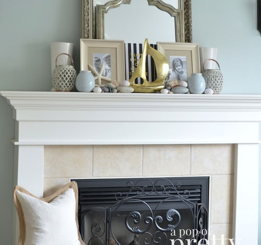 Using Gold for Summer Mantels and #OURshelfie Game