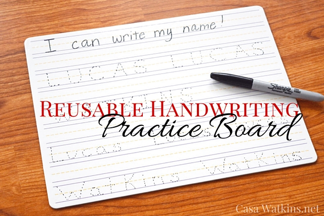 Save the Trees! Make a Reusable Handwriting Practice Board