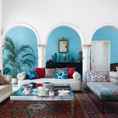 Patterned, Color, or Traditional?  Achieving a Global, Eclectic Room with Rugs from LampsPlus