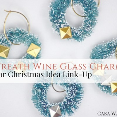 DIY Wreath Wine Glass Charms
