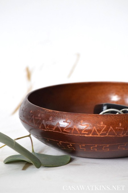diy etched tribal bowl