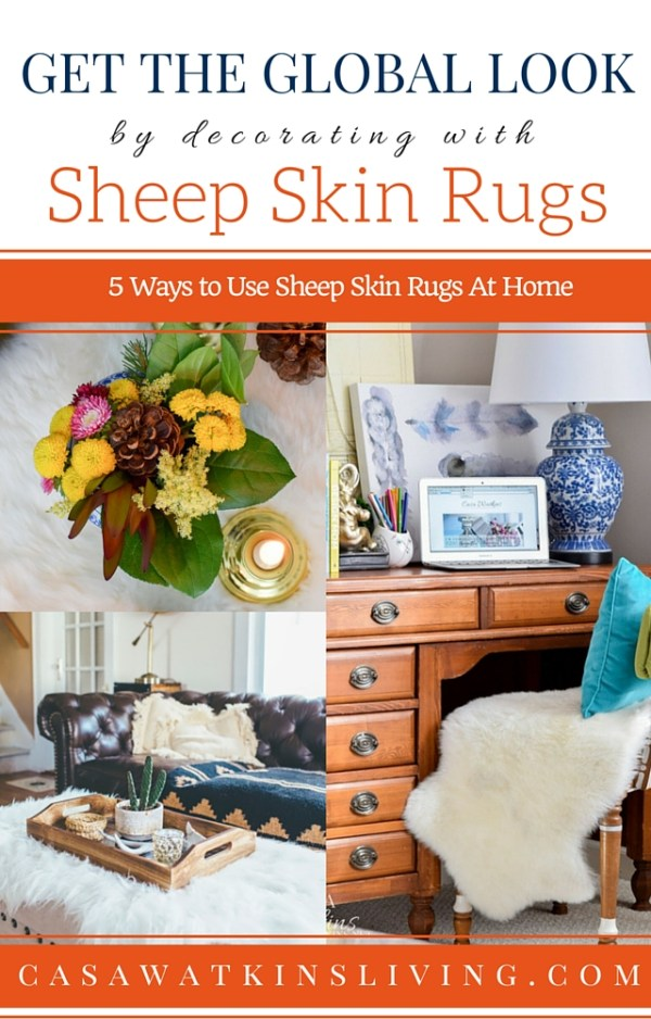 I should be using sheep skin rugs and hides these ways!