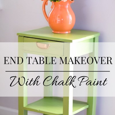 End Table Makeover: Making A Statement Piece