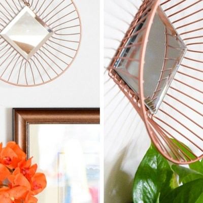 DIY Wire Mirrors From Fruit Baskets: Create and Share Challenge