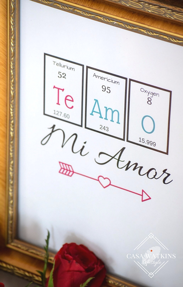 free printable periodic table art for Valentine's day