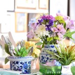 how to arrange spring tray vignette