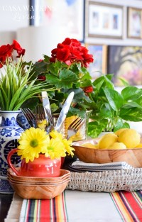 How To Use Potted Flowers In A Vignette