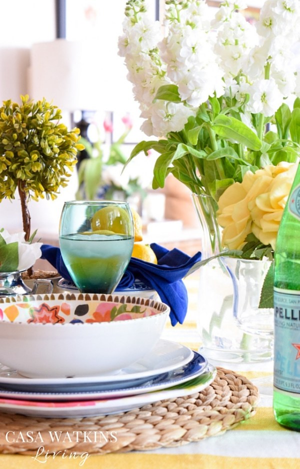 Spring tablescape inspired by Modern Mix stylist Eddie Ross