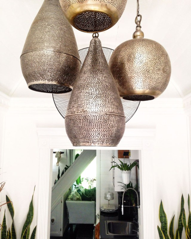 African hanging lanterns in Insieme House