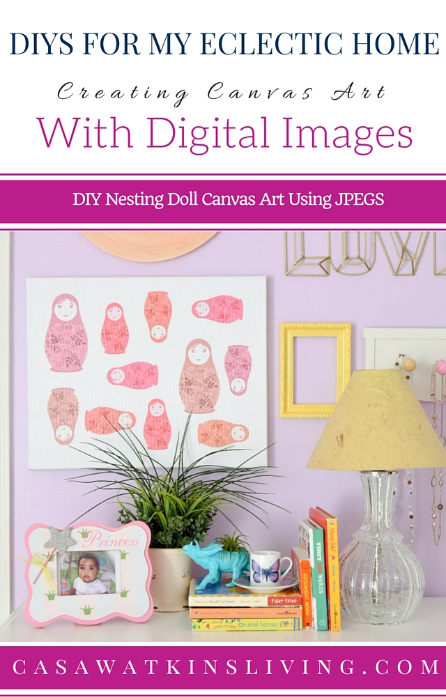 Take a JPEG image and make it into canvas art with this tutorial and giveaway!