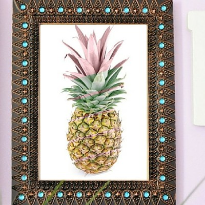Graphic Pineapple Printable Art