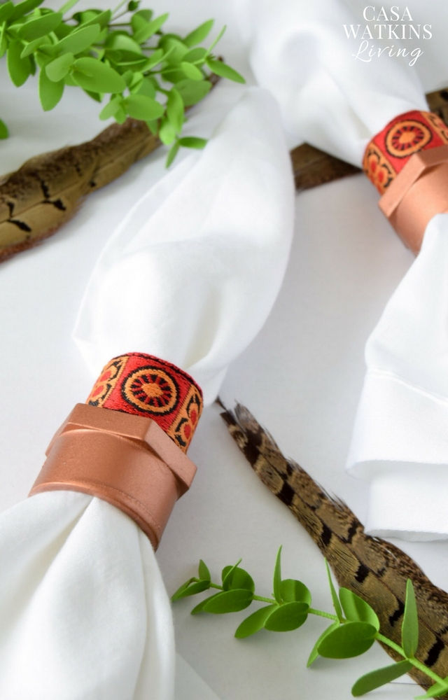 DIY copper African napkin rings with pvc pipe!