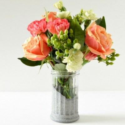 DIY Faux Concrete Dollar Store Vase