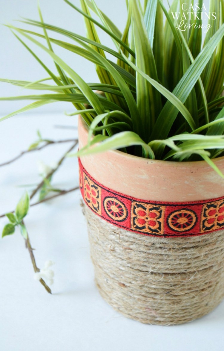 Easy jute rope planter with African vibe
