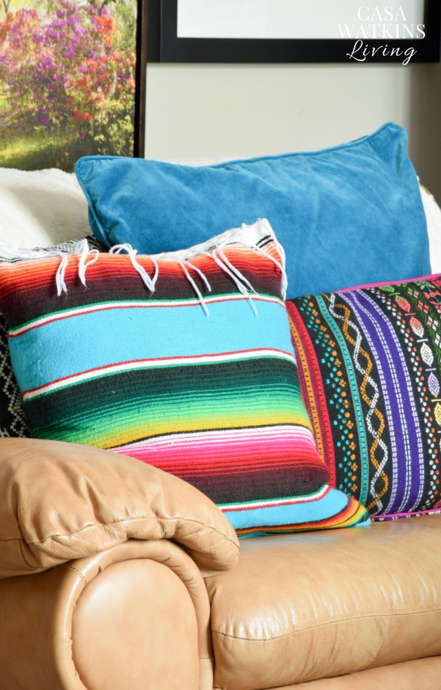 Mexican serape pillow covers!