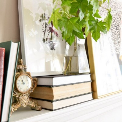 Simple Fall Mantel Decor and Giveaway