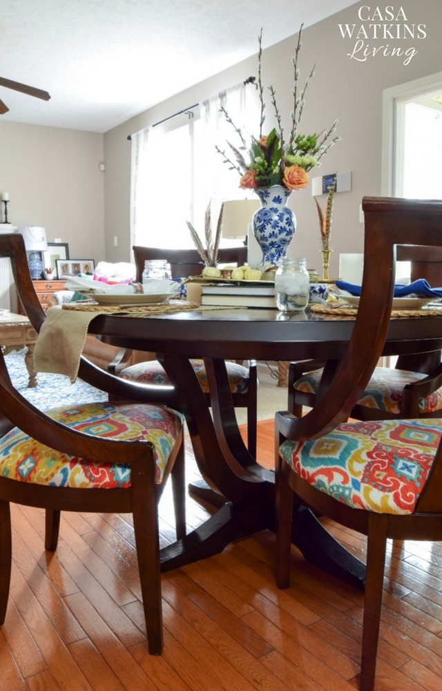 eclectic styling kitchen table for fall