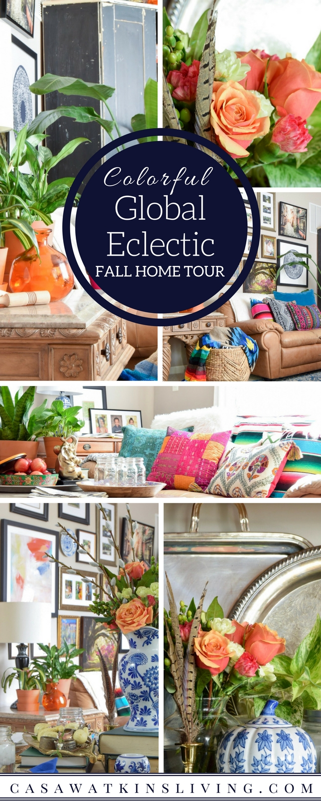 global eclectic style fall home tour