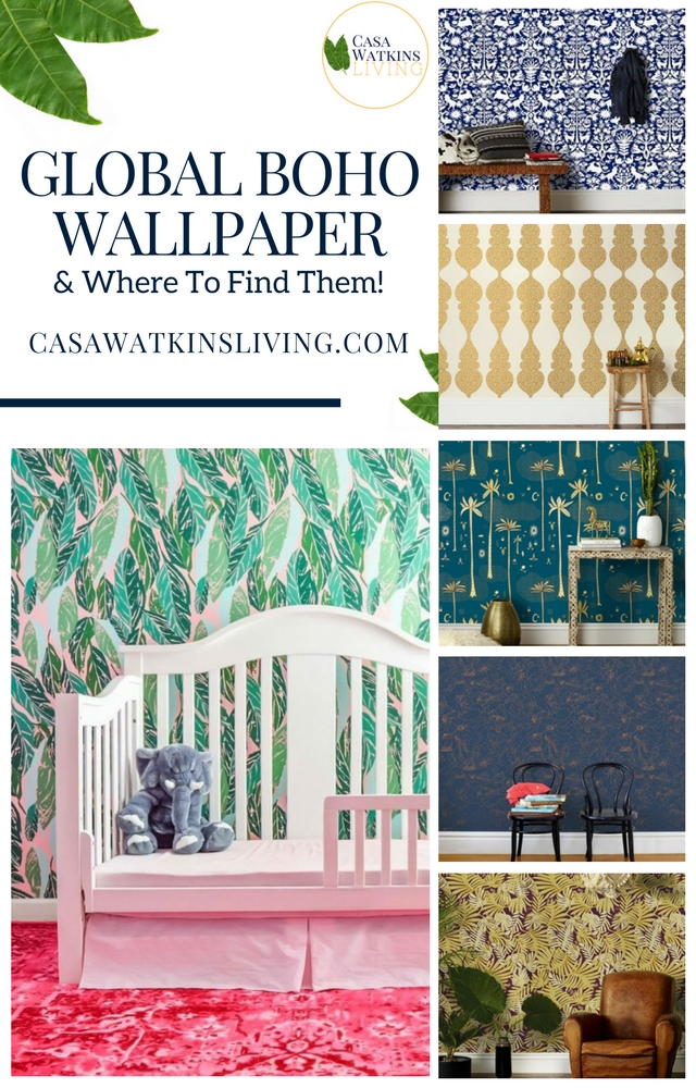 Beautiful wallpaper options for global and boho style!