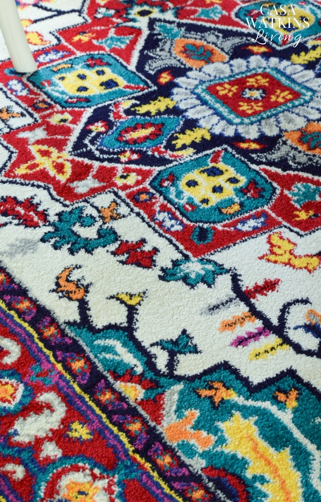 Swoonworthy medallion rug with bold colors!