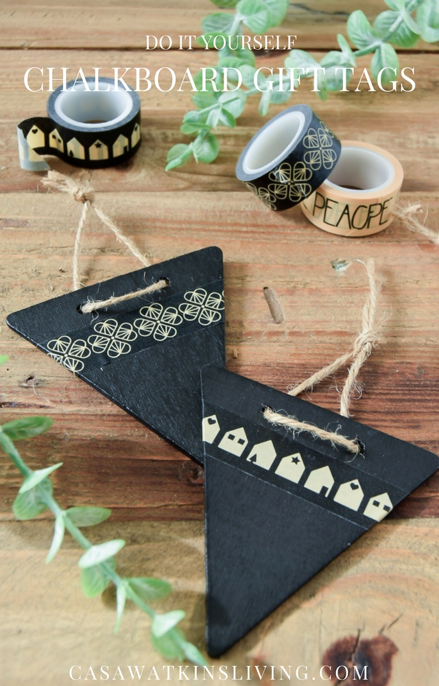 Easy DIY chalkboard gift tags tutorial
