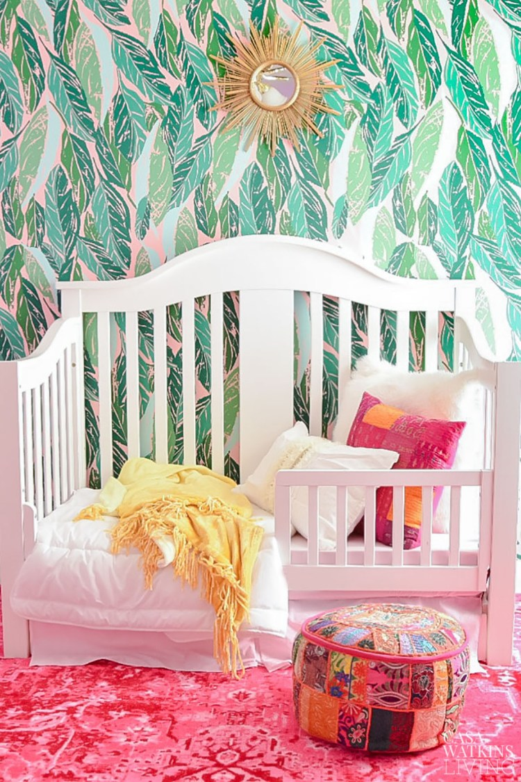 global boho little girls room reveal for one room challenge