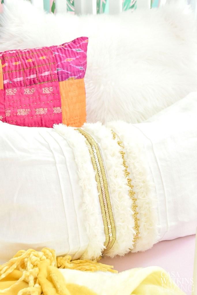Diy Moroccan Wedding Blanket Pillow Casa Watkins Living