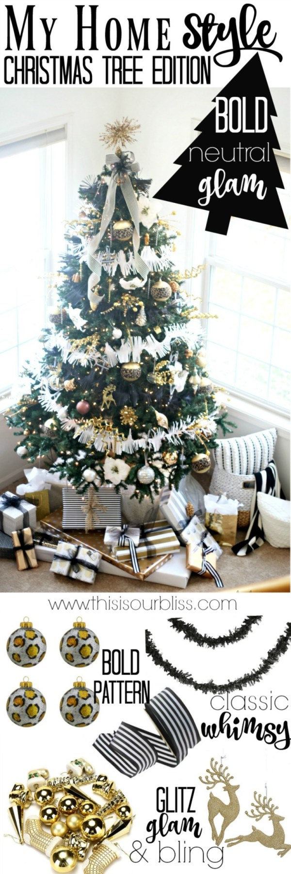 Neutral glam Christmas tree style by This Is Our Bliss
