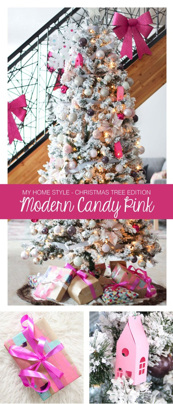 Pink Modern Christmas tree by Fresh Crush