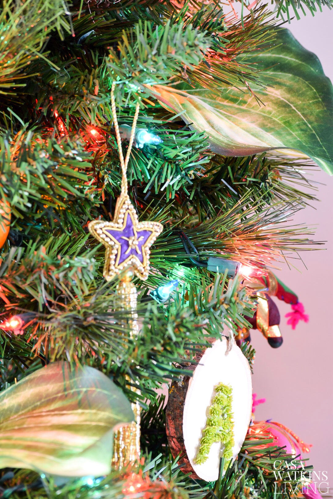 global boho style ornaments for christmas tree