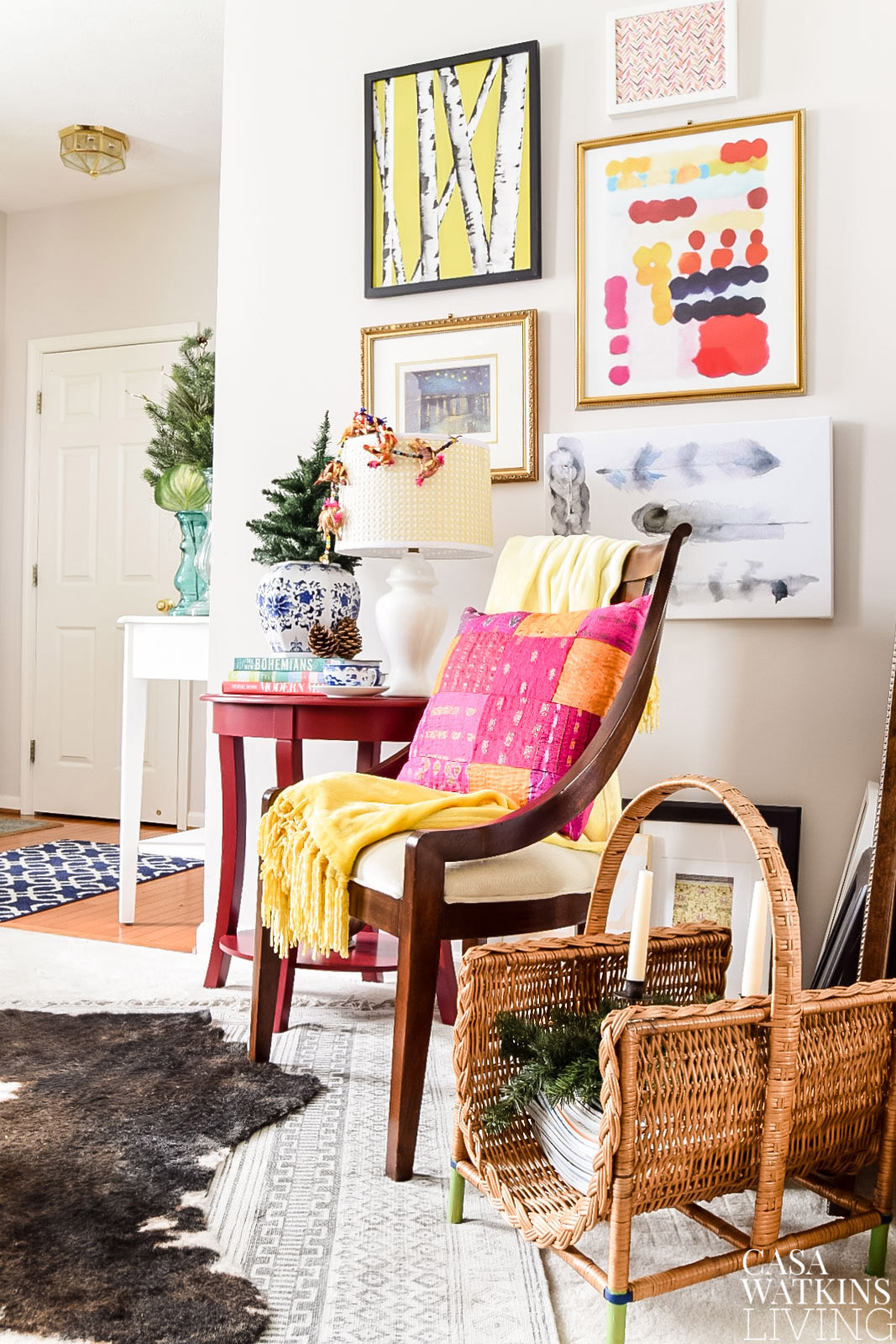 global boho style christmas home tour