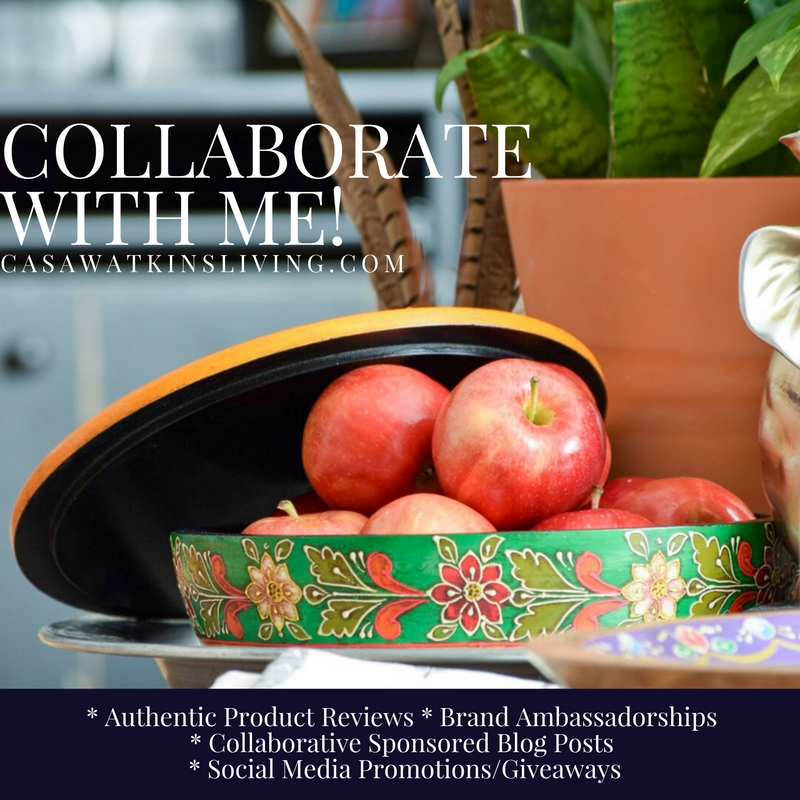 Casa Watkins Living offers collaborative brand opportunities including * Authentic Product Reviews * Brand Ambassadorships * Collaborative Sponsored Blog Posts  * Social Media Promotions/Giveaways