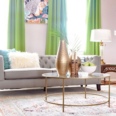 Colorful Global Eclectic Living Room
