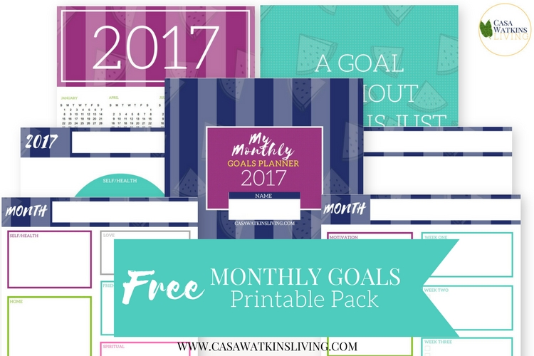 image about Monthly Goal Tracker Printable identify Printable Regular monthly Function Tracker - Casa Watkins Dwelling