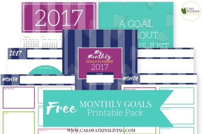 printable monthly goal tracker casa watkins living