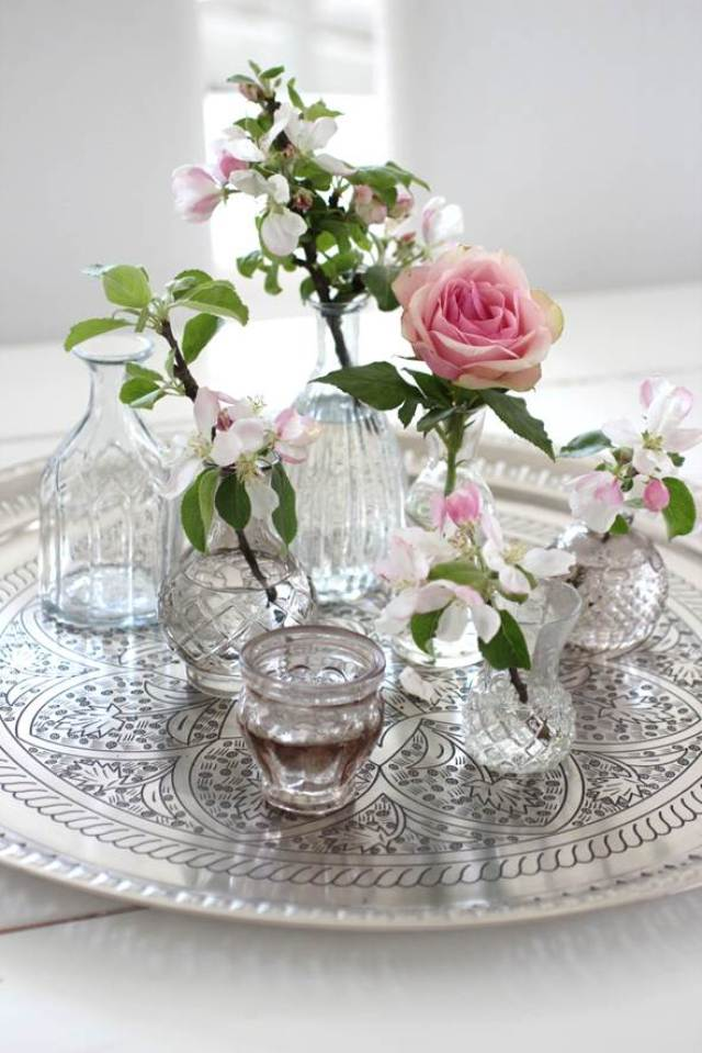 romantic moroccan tray styling