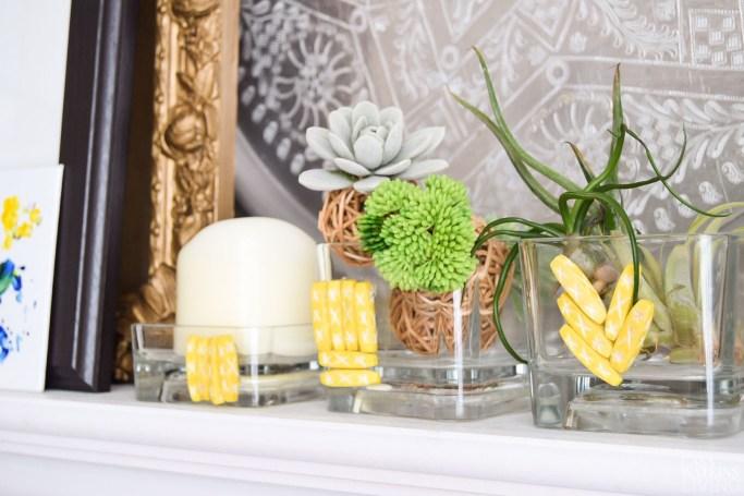 DIY bead vase with Indian bone beads