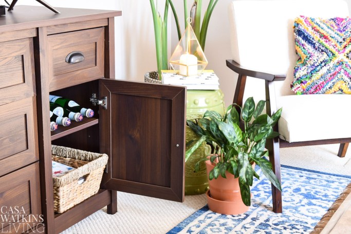 creating outdoor feel indoors with new credenza