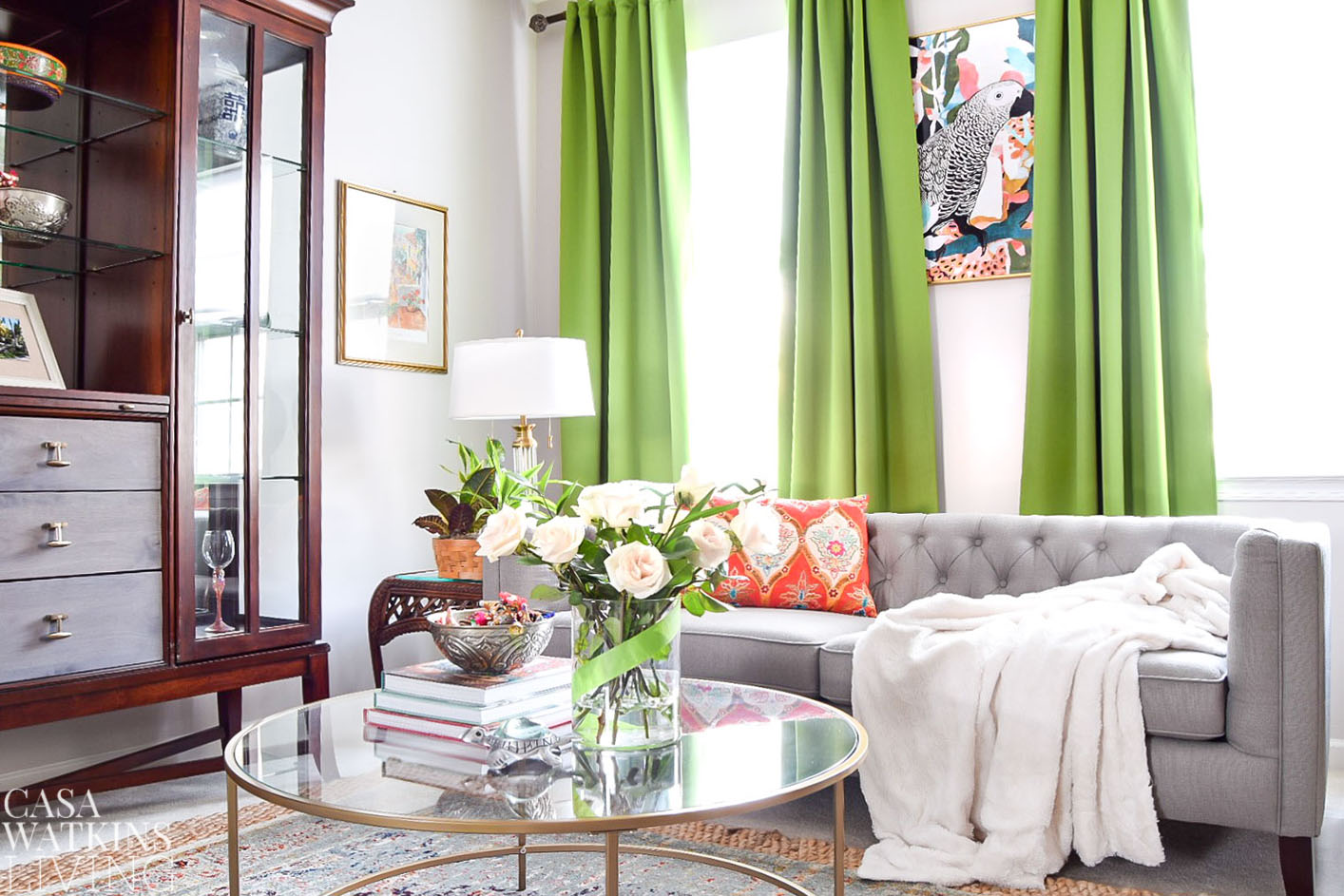 global style living room decorating for spring