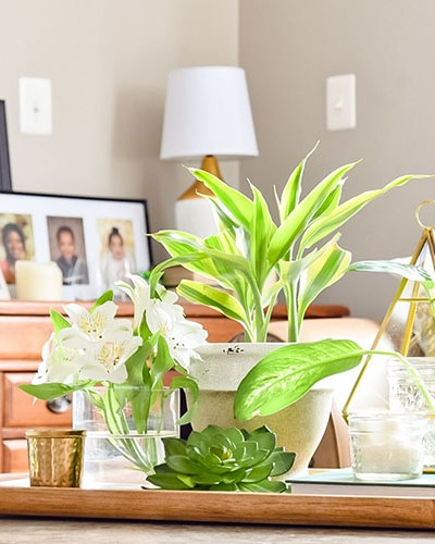 How To Style A Coffee Table Tray For Spring