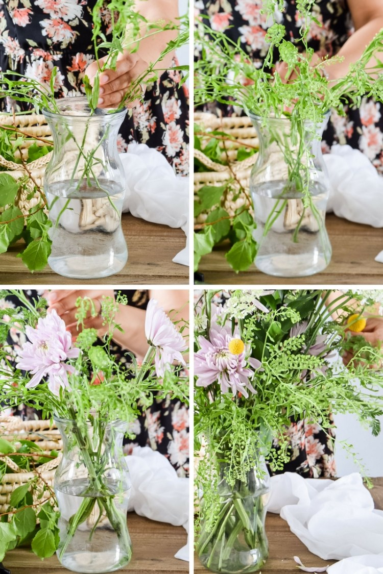how to make easy spring floral arrangement in minutes
