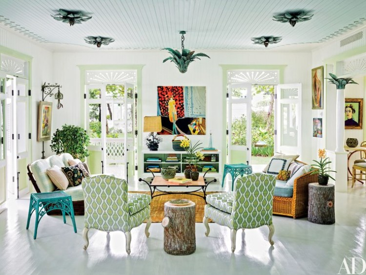 caribbean style island style living room