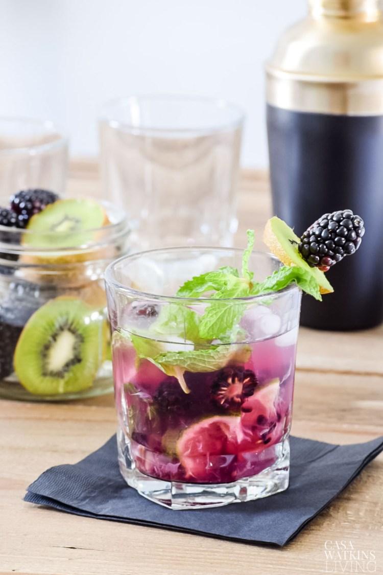 blackberry kiwi mint julep recipe
