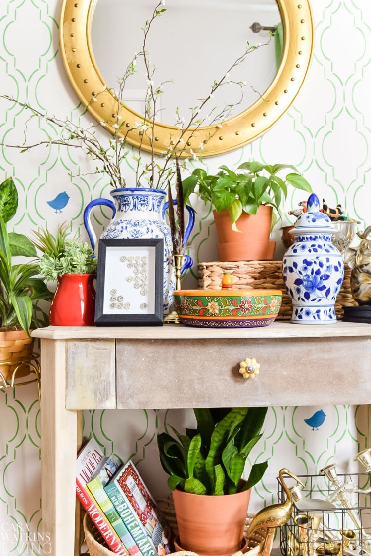 decorating with global style in entryway