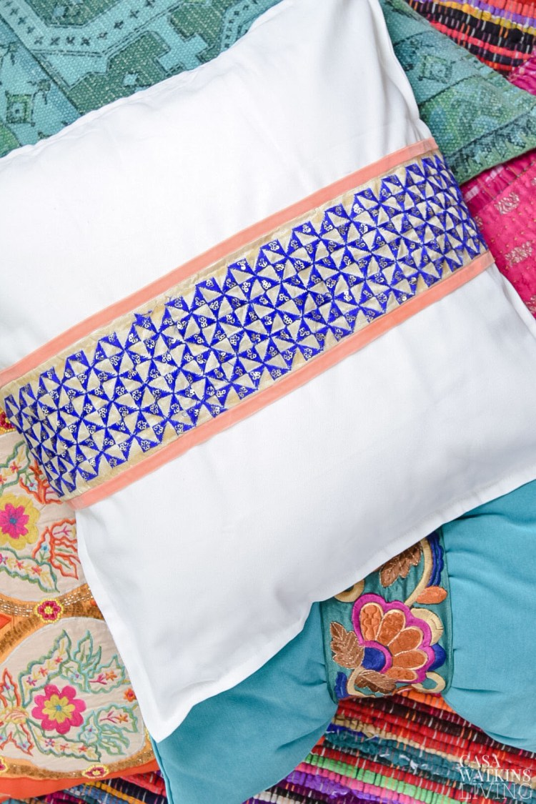 how to make a no sew pillow cover with ribbon