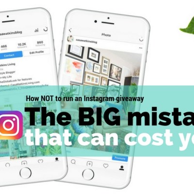 This Mistake on Your Instagram Giveaway Could Cost You!