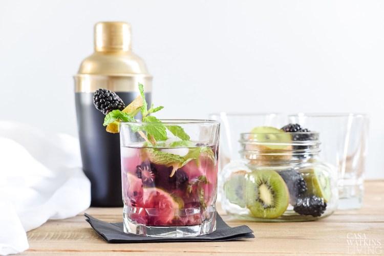 kiwi blackberry mint julep recipe