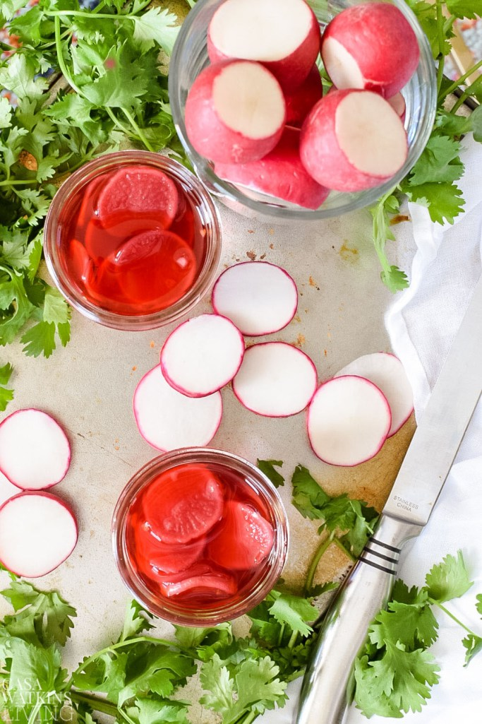 recipe for quick pickled radishes